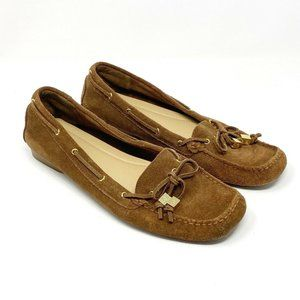 MC Moccasin Flat Loafer Driving Shoe Suede Leather